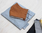 Face mask protective sleeve, made from washable paper, linen face mask, reusable, washable