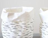 Storage basket, washable paper, Birch tree, Nordic look, Scandinavian style, home decor, minimalist interior, simple living, eco, green