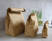 Produce bags, bulk buy, zero waste, shopping bag, reusable, plastic free, paper bag, washable paper bag, kraft paper look