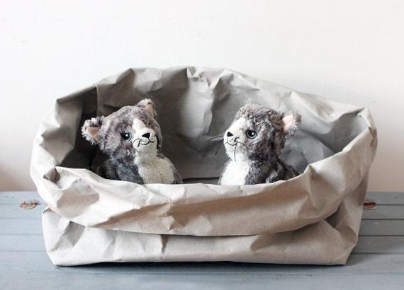 Katze bett hergestellt aus waschbar papier katze box etsy