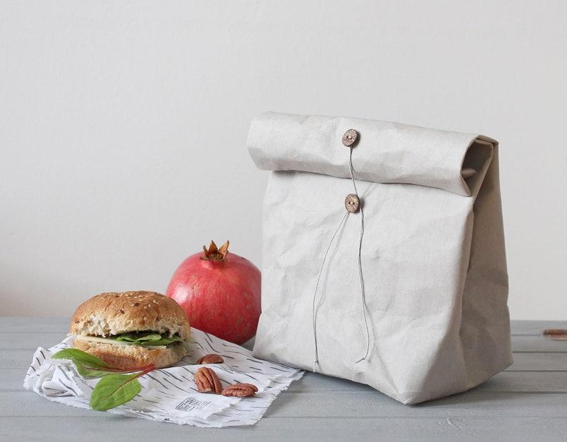 De Papieren Zak : Lunch tas herbruikbare papieren zak wasbaar papieren zak etsy