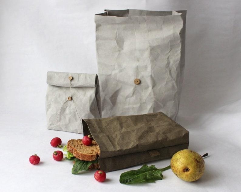 Lunch Bag Reusable paper bag washable paper bag food image 0