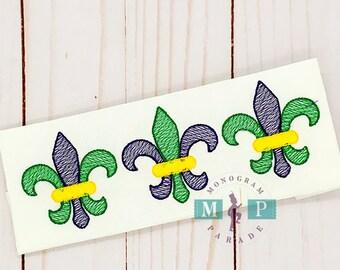 Girls Mardi Gras Shirt - Fleur de lis - mardi gras fleur de lis - Mardi Gras Mask - Sketch Mardi Gras - fleur de lis trio