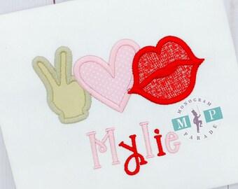 peace love kisses - Kisses - Hearts - 1st Valentine's Day - Valentine's Day - Conversation Hearts - hugs and kisses