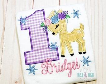 Winter One-derland - 1st birthday - deer first birthday - flower deer - snowflake