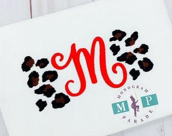 Leopard Monogram - leopard print - custom monogram - cheetah - personalized
