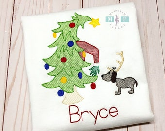 Christmas Tree Shirt - Grinch Christmas - Boys Christmas Shirt