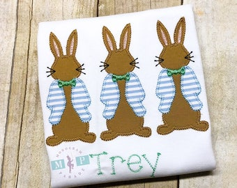 Boys Easter Bunny Shirt or Bodysuit - Peter Rabbit - Cottontail - Mr Cottontail