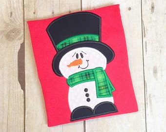 Boys Snowman Shirt - Christmas shirt - first christmas - frosty the snowman