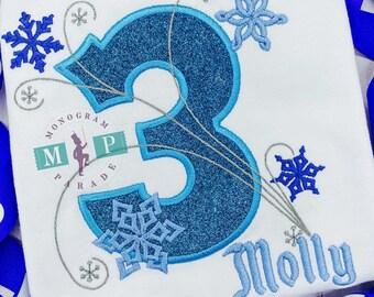 Girls Winter Birthday - One-derful Birthday - Snowflake Number - Snowflake Birthday - winter wonderland - Freezing birthday