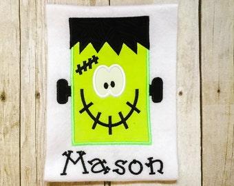 Boys Frankenstein Shirt or Bodysuit - Boys Halloween Shirt - Happy Frankenstein - Monster Shirt - First Halloween