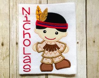 Boys Indian Shirt or Bodysuit - Thanksgiving Shirt - 1st Thanksgiving