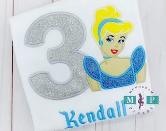 Girls Princess Birthday Shirt - Glitter Princess Shirt - Any year available - Magical Birthday