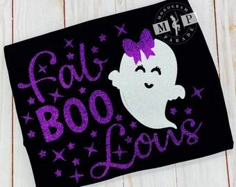 Girls halloween shirt - ghost shirt - Halloween - Trick or Treat - 1st halloween - faboolous - glitter vinyl