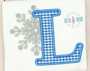Boys Winter Birthday - One-derful Birthday - Snowflake Alphabet - Snowflake Birthday - winter wonderland