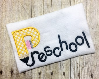 Boys Back to school shirt - School Pencil Shirt - 1st day of school - Select your grade - Homeschool