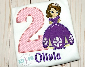 Princess Birthday Shirt or Bodysuit - Purple Princess - Birthday Princess