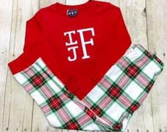 SALE!! Unisex Children's Pajamas - Christmas Pajamas - Boys Christmas Pj - Girls Christmas PJ