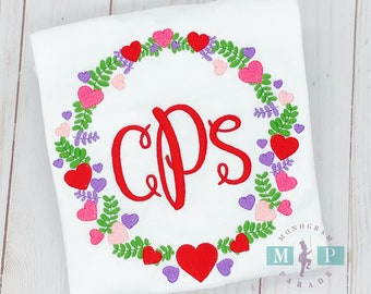 Valentine Wreath Design - Hearts - 1st Valentine's Day - Valentine's Day - Conversation Hearts
