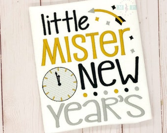 Little Mister New Years - New Years Eve - Boys NYE Shirt - 1st New Years - First New Years