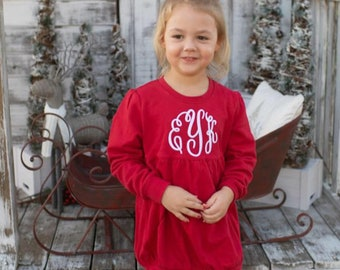 Girls Bubble Sweatshirt - Monogram Sweatshirt - Valentines outfit - Christmas Outfit