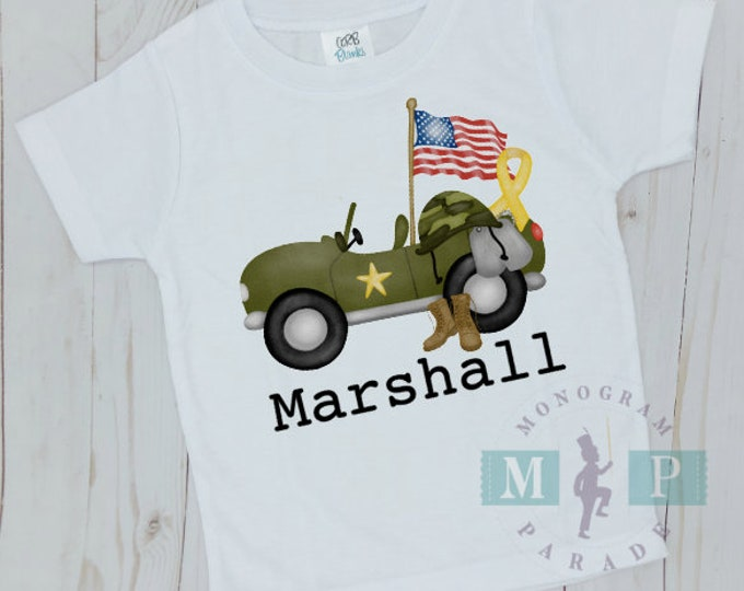 Featured listing image: Boys Military Truck - Patriotric - 4th of july
