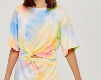Tween Tie Dye Two Piece Sporty Set