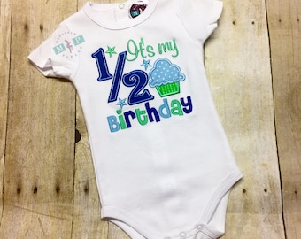 It's my 1/2 Birthday Bodysuit - half birthday - birthday bodysuit - Boys 1/2 birthday
