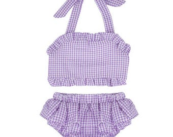 Girls Monogram Bikini - Toddler Monogram Bikini - Monogram Bathing Suit - Girls Bathing Suit