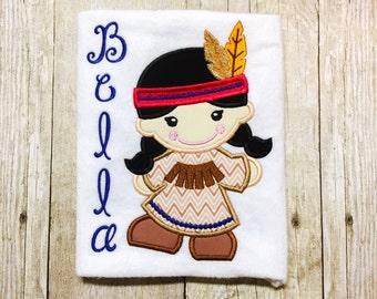 Girls Indian shirt or bodysuit - thanksgiving - 1st thanksgiving