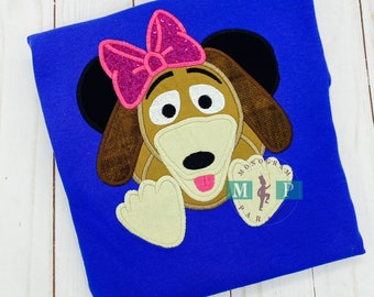 Slinky Dog - Toy Shirt - Monogram Dog - Girl Dog