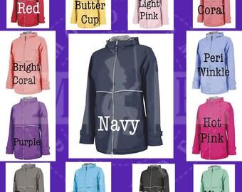 Ladies Rain Jackets - New Englander - Monogram Rain Coat - Rain Coat - Umbrella