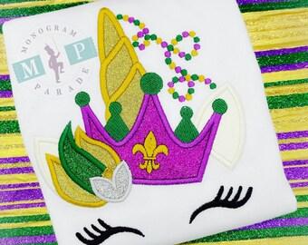Mardi Gras Unicorn - Girls Mardi Gras Shirt - 1st mardi Gras - Mardi Gras Princess - Mardi Gras Queen - Mardi Gras Beads