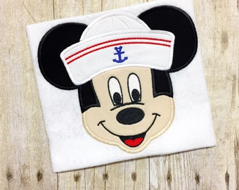 Mr Mouse Sailor Shirt - Mr Mouse Cruise Shirt - Boys Cruise Shirt - Boys Cruise Bodysuit