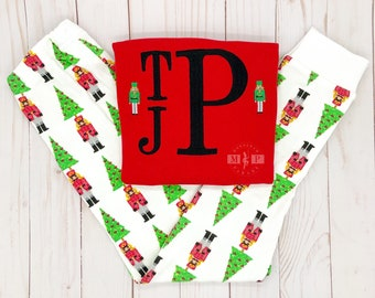 SALE!! Boys Christmas Pajamas - Nutcracker Pajama - Monogram Pajama - Christmas PJ - Monogram Pj - nutcracker pj - infant christmas