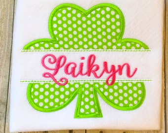 Shamrock Bodysuit or Shirt - St. Patricks Day Shirt or Bodysuit - 4 leaf clover - Lucky Shirt - Leprechaun - St. Patricks Day