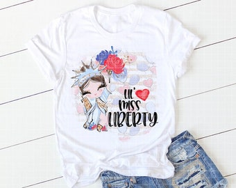 Lil Miss Liberty - July4th -Independence Day- Sublimation