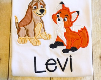 Fox and the Hound Bodysuit or Shirt - Disney Shirt - Fox - Hound - Dog - Boys Shirt