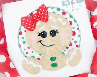 Gingerbread Girl - Cookie Christmas - Girls christmas shirt - gingerbread cookie - gingerbread man