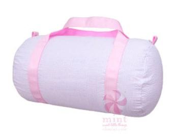 Seersucker Medium Duffle- Overnight bag