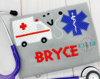 Boy's Paramedic Bodysuit or Shirt - EMS - Ambulance