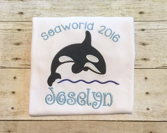 Seaworld Shirt or Bodysuit - Killer whale shirt - Seaward - whale appliqué