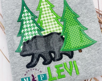 Black Bear Christmas - Christmas shirt - christmas tree - tree farm