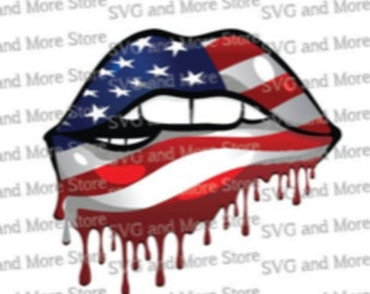 American Lips July 4th - Ladies - Mens - Sublimation