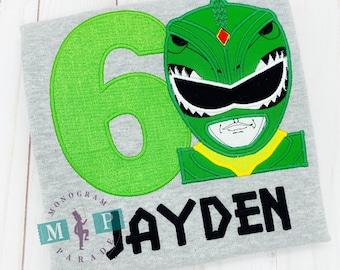 Boy super hero shirt - comic book- power hero - super hero birthday - super kid - green power - green ranger