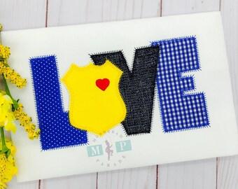 Police Love - Girls Police Badge - Officer - Police - Police Dad - Police Mom