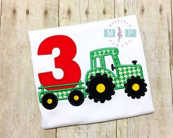 Boys Tractor Birthday Shirt - Farm Birthday - Any year available