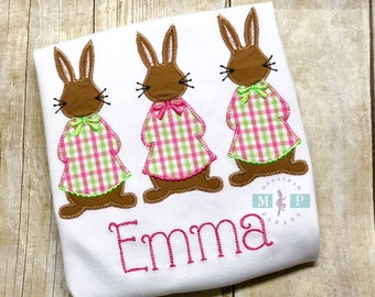 Girls Easter Bunny Shirt or Bodysuit - Peter Rabbit - Cottontail - Miss Cottontail