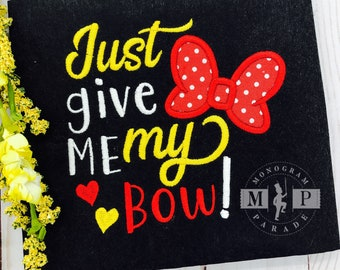 Just give me my bow - Girls shirts-Mouse inspired