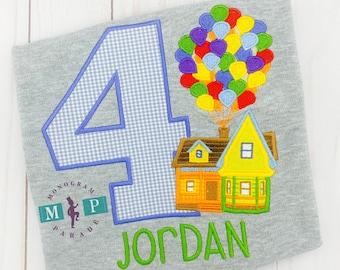 UP Birthday Shirt - UP House - Any year available - Boys Birthday Shirt